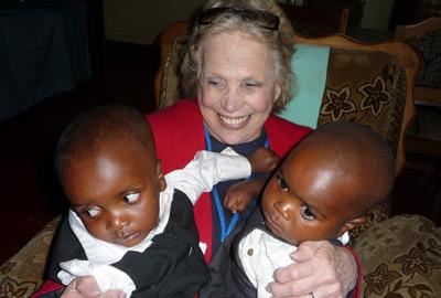 Brenda Ruello with Babies
