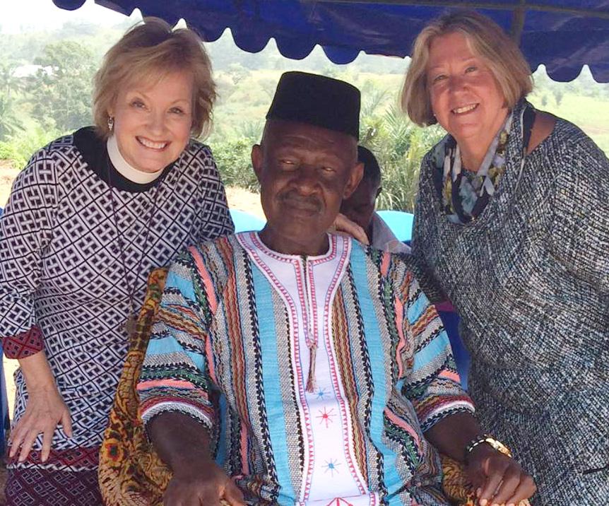 Fon of Bafut, with Elizabth Geitz and Christina Kales