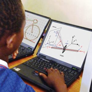 student using computer laptop