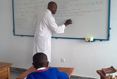 teacher at whiteboard
