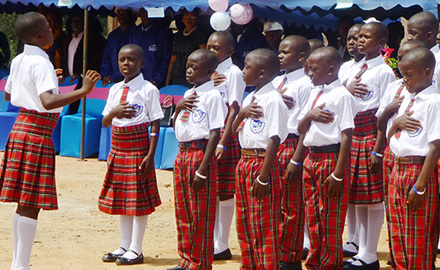 Good Shepherd Academy Students Thank American Donors With Song, Dance, and Speeches